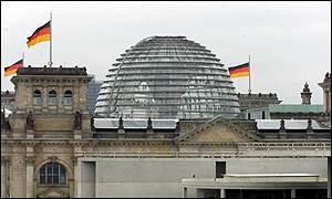 Reichstag building/flags