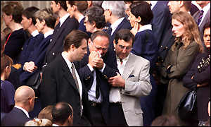 Mourners at the Concorde memorial service