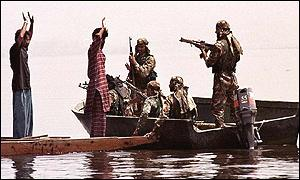 Indian soldiers during a search operation