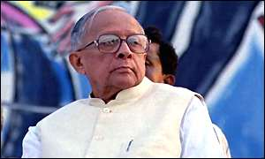 Jyoti Basu at a May Day rally