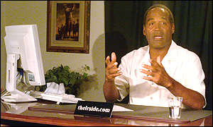 OJ Simpson answering questions in online interview