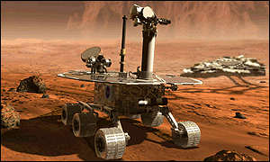 An artist's impression of the new Mars rovers