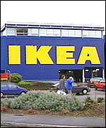 A typical IKEA store exterior