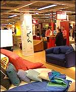 Interior of IKEA store