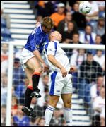 Bert Konterman and Graeme Jones tangle