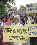 Christian demonstration in India