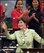 Laura Bush at convention