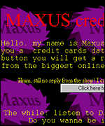 Maxus web site screen shot