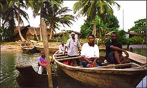 Niger delta people in boat