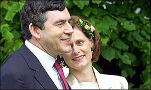 Gordon Brown and his new wife Sarah