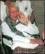 suharto in wheelchair after stroke