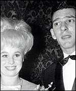 Reggir Kray with Barbara Windsor in the 1960s
