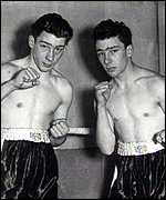 The Kray twins as boxers