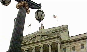 Flag flying above Stormont
