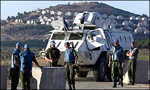 UN soldiers at the Israel-Lebanon border