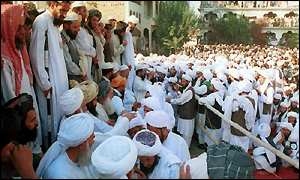 Islamic students at a religious school