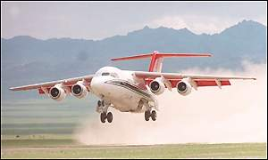 A  BAe 146 used by The Royal Squadron