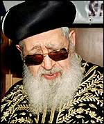 Shas leader Rabbi Ovadia Yosef