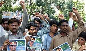 Musharraf supporters