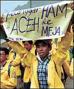 Aceh demonstrations