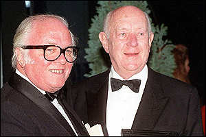 Sir Alec receives his BFI fellowship award in 1991