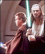 Ewan McGregor and Liam Neeson in Star Wars Episode One