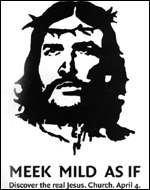 Poster of Che Guevara, depicted as Jesus Christ