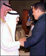 Venezuelan President Hugo Chavez in Gulf