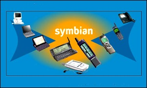 Symbian logo and a range of products