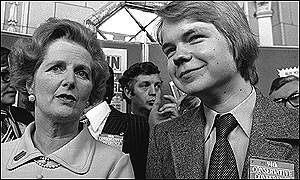 William Hague and Mrs Thatcher