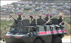 Lebanese troops on border with Israel