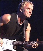 British singer Sting
