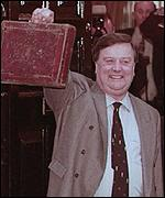 Ken Clarke with the famous red Budget box