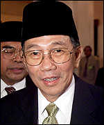 Kwik Kian Gie, who resigned as chief economic minister