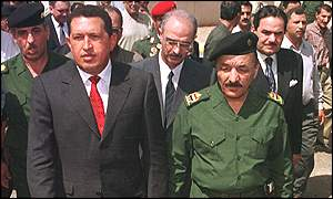 Chavez with vice-president Ramadan