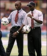 Andy Cole and Dwight Yorke were late substitutions