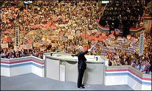 President Clinton at the Democratic national convention