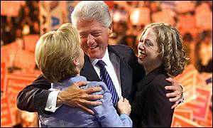 President Clinton, wife Hillary and daughter Chelsea