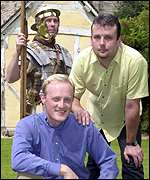 Roman solider John Smith, Kevin Elliott and Martin Elliott.