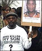 Roger Sylvester's father campaigning in January 1999