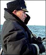Vladimir Putin on a submarine