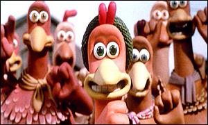 Characters from the Chicken Run movie