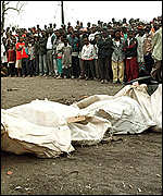bodies of the Athi River train disaster