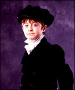 Daniel Radcliffe as the young David Copperfield