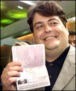 David Shayler with passport