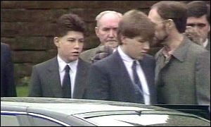 Stephen Flannigan at funeral