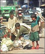 Children scavenging
