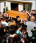 The funeral of the murdered eight-year-old
