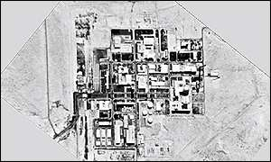 Satellite photo of Dimona nuclear reactor, believed to have nuclear weapons