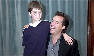 Chris Columbus with Daniel Radcliffe